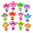 Bloomy Belles: virágcserépbaba - többféle