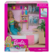 Barbie: Fürdőszobaszett babával és fürdősóval
