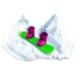Floof! Hópehely gyurma: Snowboard Park készlet - 35g
