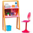 Barbie bútorok: nappali szőke hajú Barbie-val