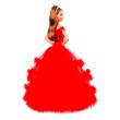 Barbie: barna hajú varázslatos ünnepi baba