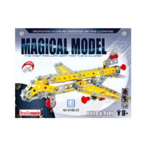 Fém építőjáték - vadászgép, 181 darabos