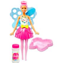 Barbie Dreamtopia: rózsaszín hajú buborékfújó tündérbaba