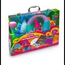 Crayola Trollok 115 db-os csillámos kreatív bőrönd