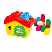 Clemmy Puha, bébi építőjáték szett - Házikó tárolóban 15 db