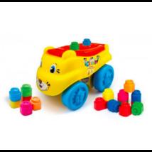 Clemmy Baby Puha, bébi építőjáték szett - Tigrismotor 18 db
