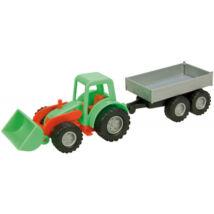 LENA Mini Compact traktor pótkocsival - 26 cm
