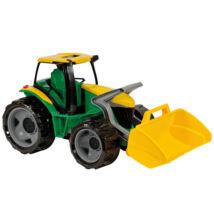 LENA: Óriás zöld traktor markoló lapáttal - 62 cm