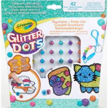 Crayola: Glitteres Dekorgyöngyök - kulcstartó készítő készlet