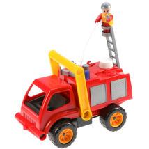 LENA Tűzoltóautó vízpumpával és figurával - 31 cm
