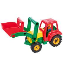 LENA Homlokrakodó traktor figurával - 35 cm