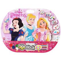 Disney hercegnők színező (ceruza, zsírkréta, vízfesték, matrica)