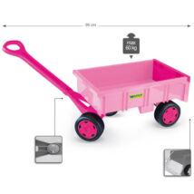 Wader Kézikocsi 60 kg teherbírással - rózsaszín