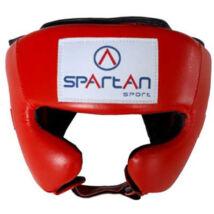 Piros nyitott fejvédő - Spartan