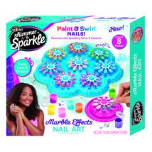 Shimmer and Sparkle: Márványos körmök manikűr szett