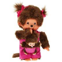 Monchhichi - Anya gyermekével, pink 20cm