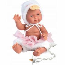 Llorens újszülött baba kacsás ruhában 26 cm
