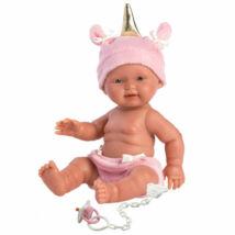 Llorens újszülött lány baba sapkával 26 cm