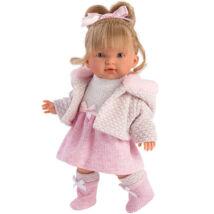 Llorens Valeria 28 cm-es baba rózsaszín ruhában