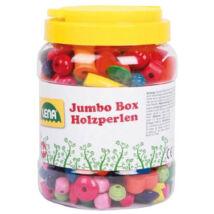 LENA: Fa színes fűzhető gyöngyök nagy dobozban 438 db