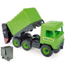 Wader Middle Truck kukásautó 42 cm zöld