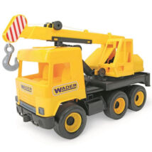 Wader: Middle Truck darus autó, 38 cm - sárga