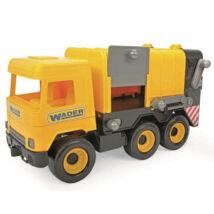 Wader Middle Truck kukásautó 42 cm sárga