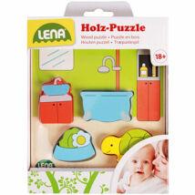 LENA: Fürdőszoba fa formaillesztő puzzle