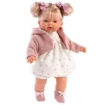 Llorens Roberta 33 cm-es baba kapucnis felsővel