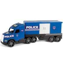 Wader Magic Truck Rendőrkamion fluoreszkáló lámpákkal 81cm