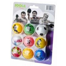 Joola színes pingponglabda szett - 9 db