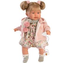 Llorens Alexandra síró baba virágos ruhában 42 cm