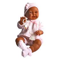 Llorens baba rózsaszín ruhában 45 cm