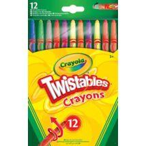 Crayola - Csavarozható zsírkréta 12 db-os