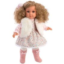 Llorens Elena baba virágmintás ruhában 35 cm