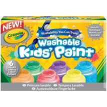 Crayola: Lemosható metál festék - 6 darabos