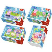 Peppa malac: Peppa malac boldog napja 54 darabos mini puzzle - többféle