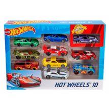 Hot Wheels: 10 darabos kisautó készlet