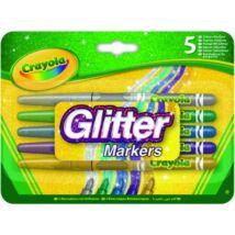 Crayola Csillámos filctollak 5db-os