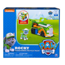 Mancs őrjárat: Rocky átalakuló újrahasznosító autója figurával dobozban