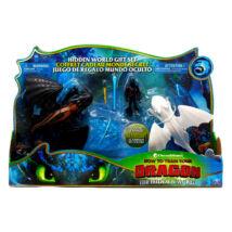 Így neveld a sárkányodat 3: színváltós Fogatlan és Fényfúria figura