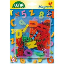 LENA 36 db-os mágneses nagybetűk
