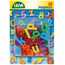 LENA mágneses kisbetűk - 36 db