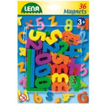 LENA Mágneses számok és jelek - 36 db