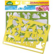 LENA: Lovak és cicák rajzsablon