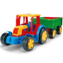 Wader óriás traktor utánfutóval 102 cm