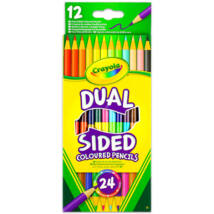 Crayola: Kétvégű színes ceruza - 12 darabos
