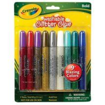 Crayola 9 darabos csillámragasztó - kimosható