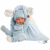 Llorens Nico újszülött fiú baba takaróval és pelenkával 40 cm