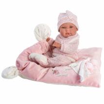 Llorens Nica újszülött lány baba pelenkával 38 cm